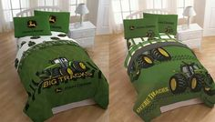 John Deere bedding. Getting this for the boys bedroom the one that says Big Tracks!