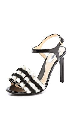 Moschino Bow Detail Sandals {love the black and white}