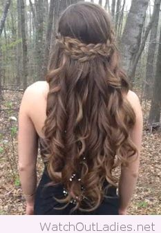 Braid and curls with highlights beautiful