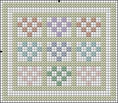 Cross Stitch Patterns   Free Cross Stitch Pattern - Flower Garden Quilt - Color Symbol Pattern