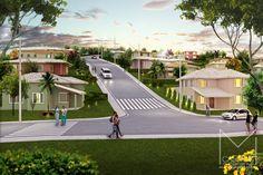 Miriã Campos | Arquitetura • Design • Maquete Eletrônica 3D | Vista geral aérea foto inserção Loteamento residencial novo itabirito II – design – Maquete eletronica 3D – Belo Horizonte BH – Miriã Campos MCampos arquitetura