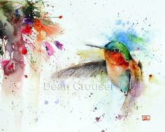 'JEWELL' Hummingbird Watercolor Print - Dean Crouser