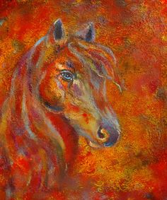 Original Fine Art 20 x 24 Horse Print the Fire by theartwithaheart, $41.00