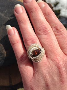 Heady Wire Wrap Wire Wrap Ring Fire Agate Ring by SweetWaterSilver