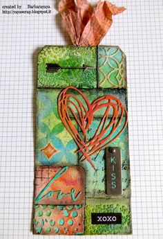 yaya scrap & more: 12 TAGS OF 2015: SECOND CRAZY MIXED MEDIA VERSION!!!