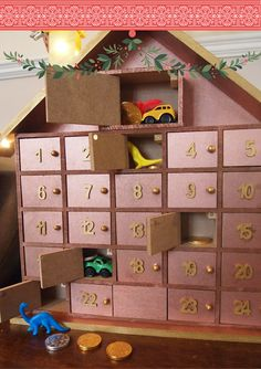 Mrs Bishop's Bakes and Banter: Our Crafty Advent Wooden House...
