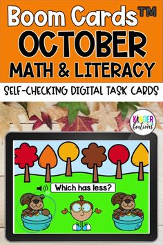 Engage your students and practice MATH AND LITERACY SKILLS with these fall-themed Boom Cards! This October Math and Literacy bundle covers a variety of skills including letter sounds and recognition, CVC word reading, numbers to 20, and more! Perfect for Kindergarten, Preschool, and First Grade! They are perfect for centers, independent work time, small group instruction, and distance learning.