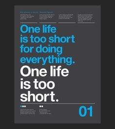 5 Phrases Of Massimo Vignelli Set in Helvetica by Anthony Neil Dart