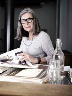 Elfie Semotan Gray Matters, Inspiring Women, Inspiring People, Getting Old, Crowd, Fashion Beauty, That Look, Grey, Makeup