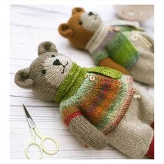 Knitting Patterns For Kids 'Tearoom Bears ' Pdf knitting pattern… an image from my work table when I was photographing the recently published pattern. This week I'm busy planning the colours… Mary Jane's Tearoom – Awesome Craft And Arts Original Baby Knitting Patterns, Knitting For Kids, Loom Knitting, Free Knitting, Knitting Projects, Crochet Patterns, Knitting Toys, Teddy Bear Patterns, Knitting Bear