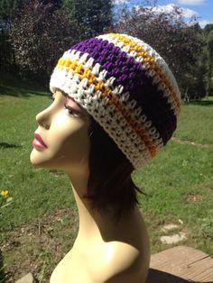 Minnesota Vikings Hat, Beanie, Skull Cap on Etsy, $25.00