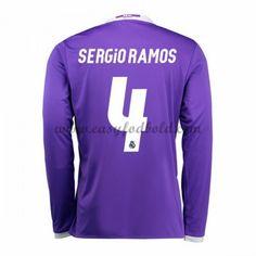 Fodboldtrøjer La Liga Real Madrid 2016-17 Sergio Ramos 4 Udebanetrøje Langærmede