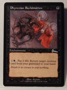 Phyrexian Reclamation Magic The Gathering Urza s Legacy M NM