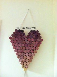 DIY: Wine Cork Heart, Wine Corks, #diy