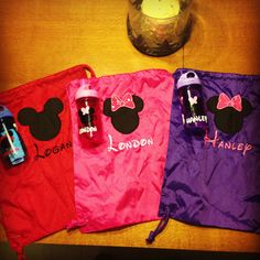 DIY Disney Backpacks and Water Bottles