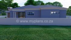3 Bedroom House Plan - My Building Plans South Africa Round House Plans, Split Level House Plans, Square House Plans, Metal House Plans, My House Plans, Family House Plans, My Building, Building Plans, House Plans South Africa