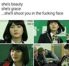 Min Yoonji is the baddest out there! Bts E Got7, Kookie Bts, Bts Bangtan Boy, Yoongi Bts, Btob, Famous Meme, Vixx, V And Jin, Jung Kook Bts