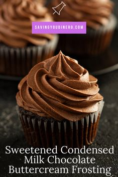 This is one of the best homemade chocolate buttercream icing recipes! This recipe will show you how to make chocolate buttercream frosting with sweetened condensed milk. It's a thick and decadent icing! It's a great recipe for decorating a cake! Milk Chocolate Frosting Recipe, Homemade Chocolate Icing, Cake Frosting Recipe, Chocolate Cake Recipe With Sweetened Condensed Milk, Best Frosting Recipe For Decorating, Decorating Icing For Cakes, Chocolate Icing For Cupcakes, Best Icing For Cupcakes, Chocolate Decorations For Cake