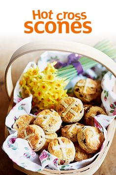 Packed with all the fragrant fruity flavours of a hot cross bun – and chocolate chips – these scones make a delicious alternative this Easter.