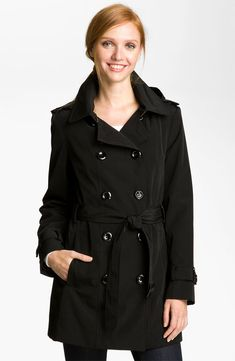 $158, Double Breasted Trench Coat by Calvin Klein. Sold by Nordstrom. Click for more info: http://lookastic.com/women/shop_items/5534/redirect
