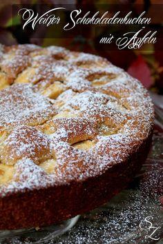 Schokokuss und Zuckerperle: Weißer Schokoladenkuchen mit Äpfeln