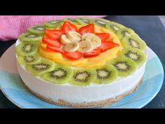 Cake Decorated With Fruit, Cheesecakes, Cake Designs, Fruit Salad, Cake Decorating, Food And Drink, Snacks, Baking, Desserts