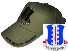 US Army 187th Infantry Regiment (PIR) (Rakkasans) Baseball Cap - Meach's Military Memorabilia & More
