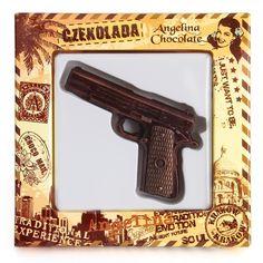 #Chocolate #pistol #gun #angelinachocolate