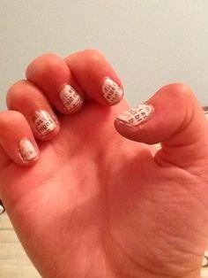 Newspaper nails! Did them myself