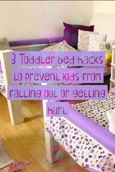 3 Toddler bed hacks to prevent kids from falling off or getting hurt Toddler Twin Bed, Twin Mom, New Beds, First Night, Gain, It Hurts, Product Launch, Mesh, Hacks
