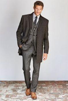 Buy Herringbone Slim Fit Suit: Jacket from the Next UK online shop