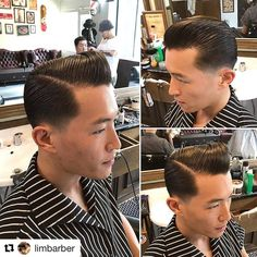 Slick Hairstyles, Slicked Back Hair, Asian Men, Grease, Haircuts, Classy, Navy, Hair Styles, Inspiration