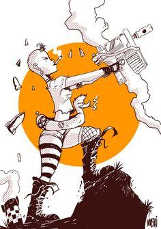 Jamie Hewlett Art Book, Tank Girl, Tigger, Disney Characters, Fictional Characters, Digital Art, Manga, Comics, Smoking