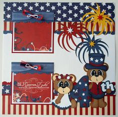 BLJ Graves Studio: 4th Of July Scrapbook Page