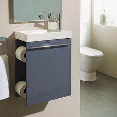 Nouveauté ! Meuble lave-mains gris souris distributeur papier WC #meuble
