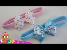 LAÇO CATAVENTO DE UMA VOLTA    ESPECIAL RN LETARTES - YouTube Baby Hair Bows, Ribbon Hair Bows, Diy Crafts Hacks, Diy And Crafts, Diy Bow, Craft Storage, How To Make Bows, Flower Making, Hair Clips