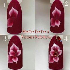 Best Nail Art Designs, Simple Nail Designs, Beautiful Nail Designs, Nail Art Diy, Cool Nail Art, Ring Finger Design, Airbrush Nails, One Stroke Nails, Nails First
