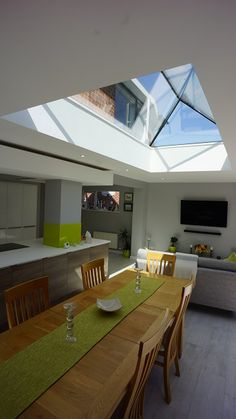 Secured by design roof lantern, frameless, low pitch. Glass to glass roof lantern rooflight and skylights for flat roof applications. Low Pitch, Kitchen Diner Extension, Roof Lantern, Laminated Glass, Ral Colours, Roof Light, Safety Glass, Glass Roof