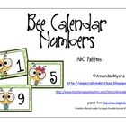 Calendar numbers from 1 to 31 with a bee theme.  These cards contain an ABC pattern.  Use for your calendar or in math centers for ordering numbers...