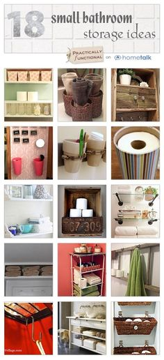 Frustrated by a small bathroom? Check these 18 brilliant small bathroom storage ideas! by bettinasis