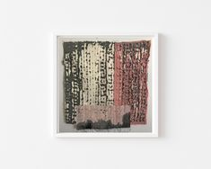 Wall hanging , Textile art, Abstract texture, Textile wall art, Textured art, Bohemian decor, one of a kind art, Pink, Brown, White, Square Texture Art, Hanging Art, White Fabrics, Bohemian Decor, Textile Design, Pink Brown, Pink White, Wall Design, Abstract Art