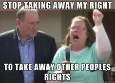 I find Kim Davis pathetic. If you support her in any way, unfollow now please.