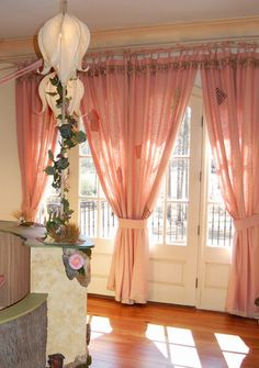 soft pink curtains