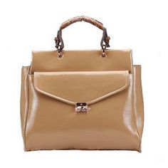 8ec68e5879 Magnificent Mulberry Polly Push Lock Tote Bag Apricot