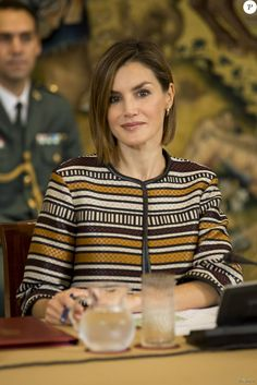 Queen Letizia attended a meeting with Royal Board on Disability Council at Zarzuela Palace on October 5, 2015 in Madrid, Spain.