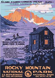 Rocky Mountain National Park Vintage Poster in the Discover Your Northwest Online Store