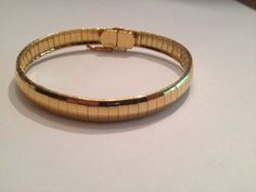 Vintage Gold Bracelet 1980s Costume Jewelry on Etsy, $8.90
