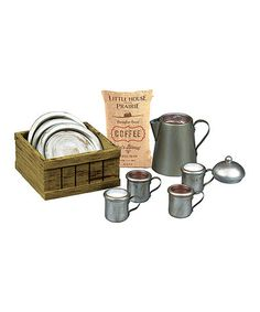 Love this Little House on the Prairie Dishware Set for 18'' Doll Set on #zulily! #zulilyfinds