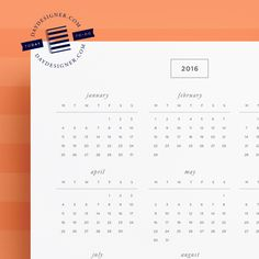 Free 2016 Yearly Calendar View