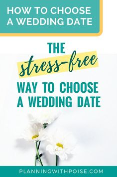 The STRESS-FREE way to choose a wedding date! A step-by-step guide to choose your wedding date! Wedding planning made easy for brides who feel overwhelmed and want to be stress-free during the process! Wedding Planning On A Budget, Budget Wedding, Destination Wedding, Wedding Planner, Free Wedding, Perfect Wedding, Wedding Day, Wedding Punch, Diy Wedding